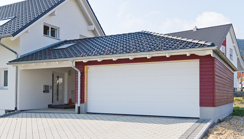 Garage mit carport am haus loopele